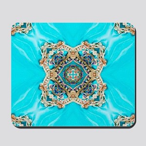 colourful bold turquoise bohemian patter Mousepad