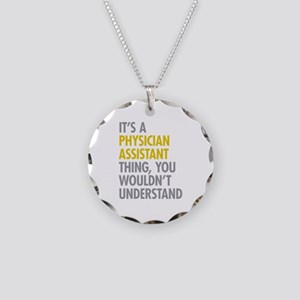 Physician Assistant Thing Necklace Circle Charm
