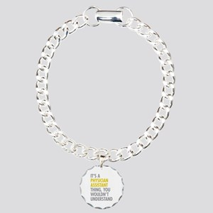 Physician Assistant Thin Charm Bracelet, One Charm