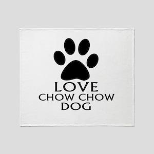 Love Chow Chow Dog Throw Blanket