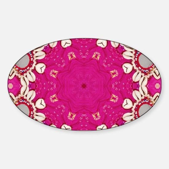 abstract fuschia bohemian shells pattern Decal
