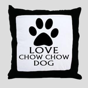 Love Chow Chow Dog Throw Pillow