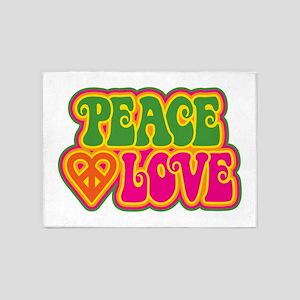 Peace & Love 5'x7'Area Rug