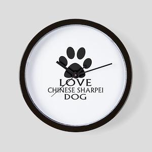 Love Chinese Sharpei Dog Wall Clock