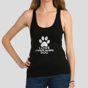 Love Chinese Sharpei Dog Racerback Tank Top