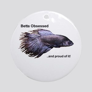 Betta Obsessed Ornament (Round)