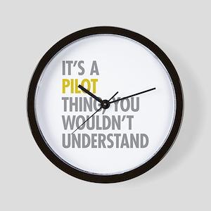 Its A Pilot Thing Wall Clock