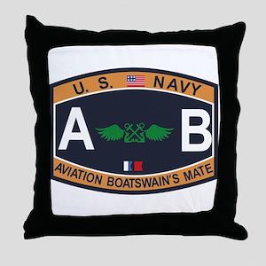 Aviation Boatswains Mate US Navy Rati Throw Pillow