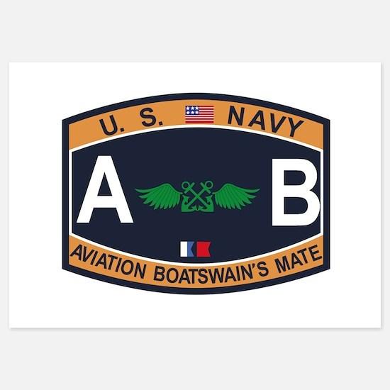 Aviation Boatswains Mate US Navy Ratin Invitations