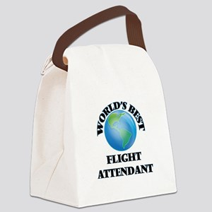 World's Best Flight Attendant Canvas Lunch Bag