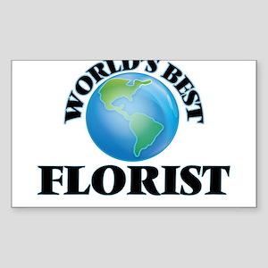 World's Best Florist Sticker