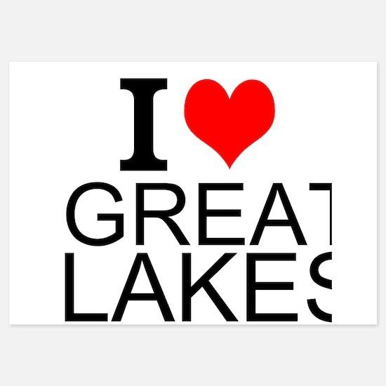 I Love Great Lakes Invitations