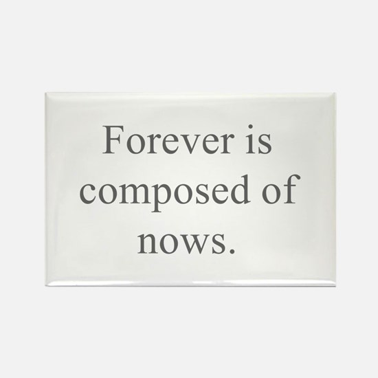 Forever is composed of nows Magnets