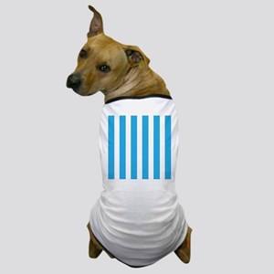 Blue And White Vertical Stripes Dog T-Shirt