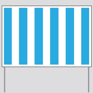 Blue And White Vertical Stripes Yard Sign