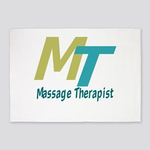 Logo Style Massage Therapist 5'x7'Area Rug
