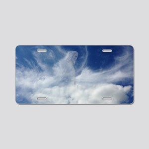 Jesus in Clouds Aluminum License Plate