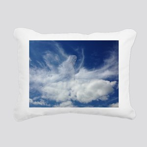 Jesus in Clouds Rectangular Canvas Pillow