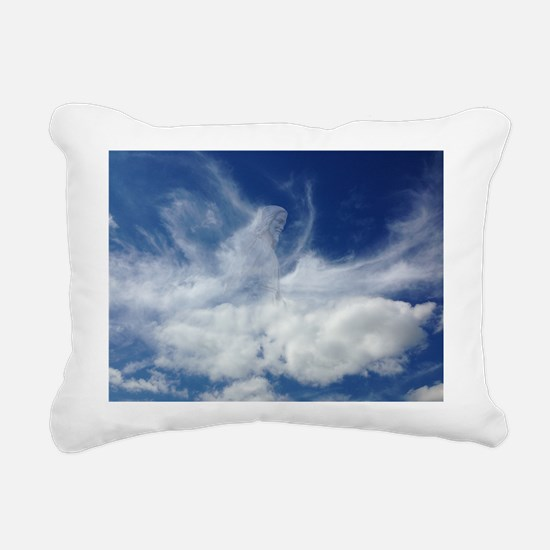 Jesus in Clouds Rectangular Canvas Pillow