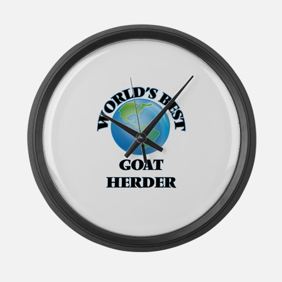 World's Best Goat Herder Large Wall Clock