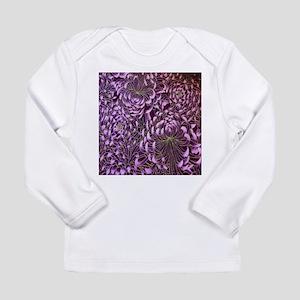 purple floral patten japanese Long Sleeve T-Shirt