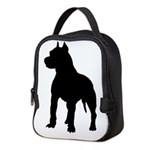 Pit Bull Terrier Silhouette Neoprene Lunch Bag