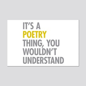 Its A Poetry Thing Mini Poster Print