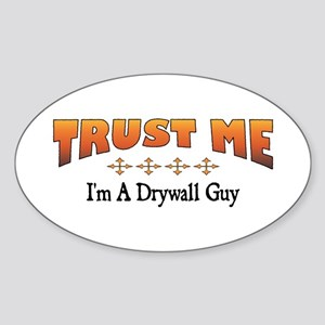 Trust Drywall Guy Oval Sticker