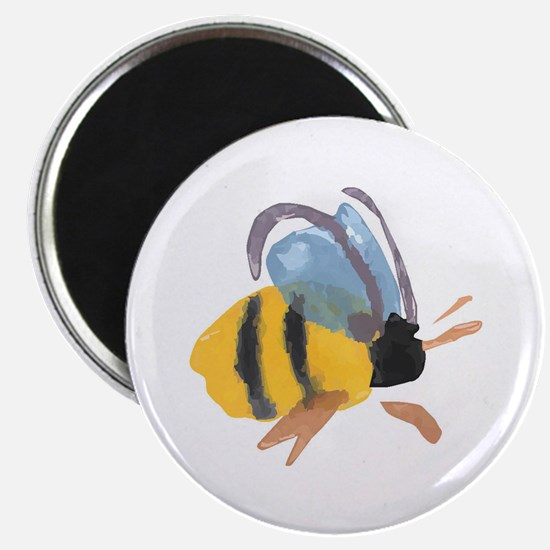 "Bee - Watercolor 2.25"" Magnet (10 pack)"