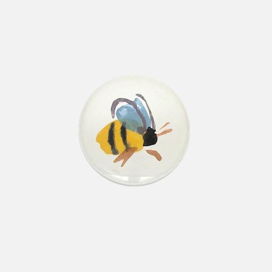 Bee - Watercolor Mini Button