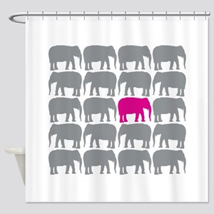 Elephants_T Shower Curtain