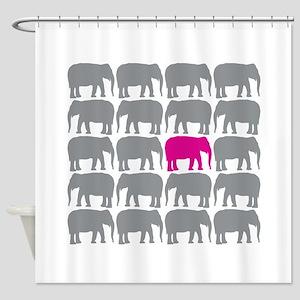 Elephants T Shower Curtain