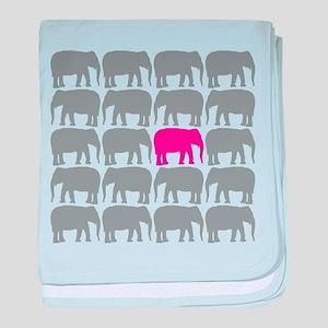 Elephants_T baby blanket