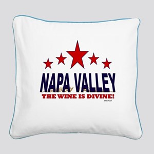 Napa Valley The Wine Is Divin Square Canvas Pillow