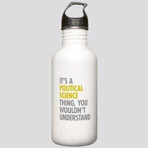 Political Science Thin Stainless Water Bottle 1.0L