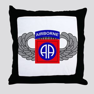 82nd Airborne Division Throw Pillow