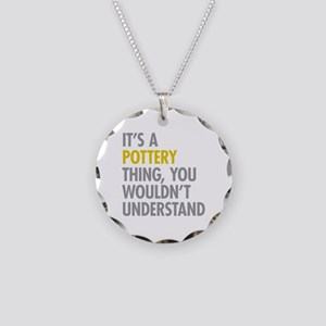 Its A Pottery Thing Necklace Circle Charm