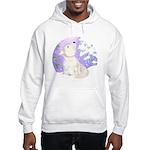 wolf in snow Hooded Sweatshirt