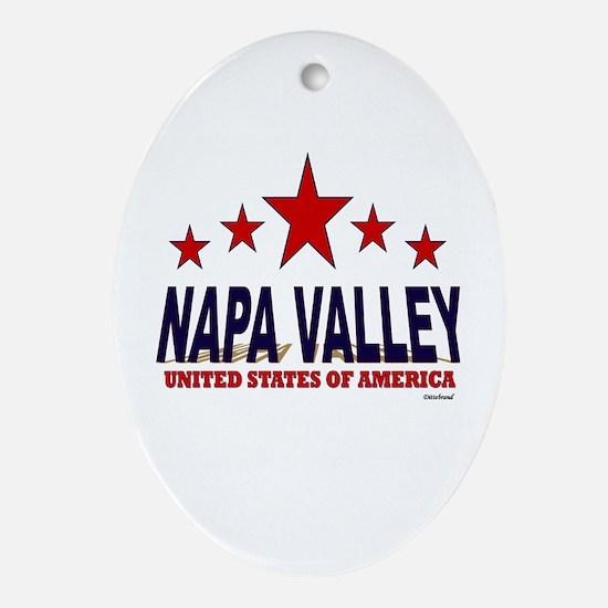 Napa Valley U.S.A. Ornament (Oval)