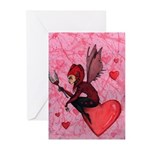 """Jester of Hearts"" Greeting Cards (6)"