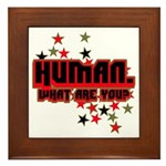 Human. Framed Tile