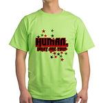Human. Green T-Shirt