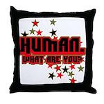 Human. Throw Pillow