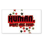 Human. Rectangle Sticker