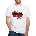 Human. White T-Shirt