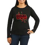Human. Women's Long Sleeve Dark T-Shirt