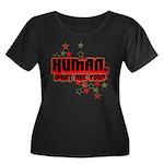 Human. Women's Plus Size Scoop Neck Dark T-Shirt