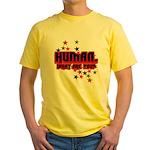 Human. Yellow T-Shirt