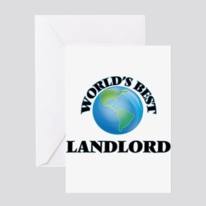 World's Best Landlord Greeting Cards