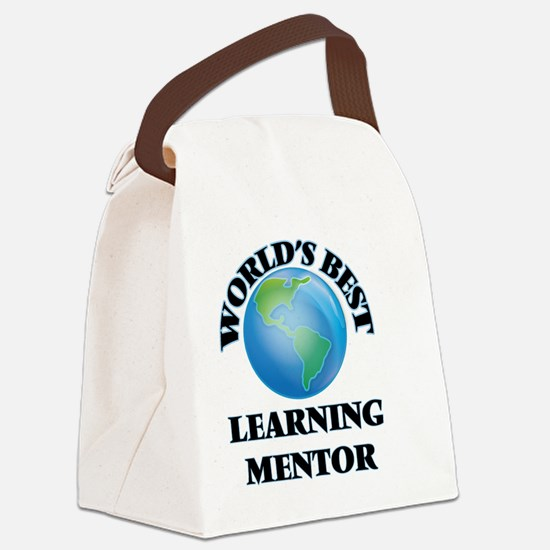 World's Best Learning Mentor Canvas Lunch Bag